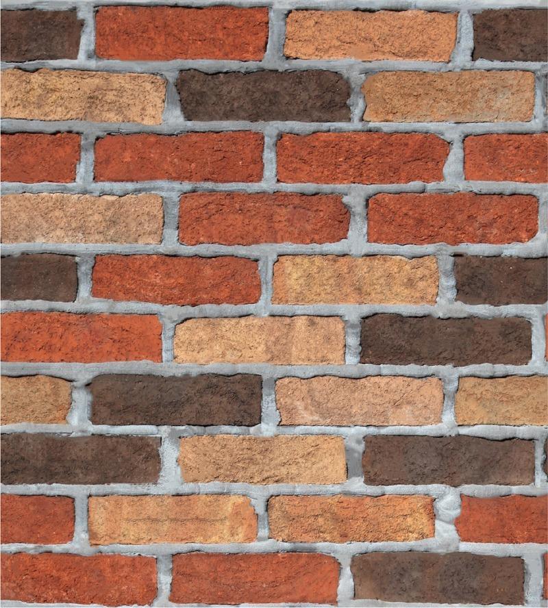 Papel tapiz pared tipo ladrillos rojos vintage adhesivo - Papel vintage pared ...