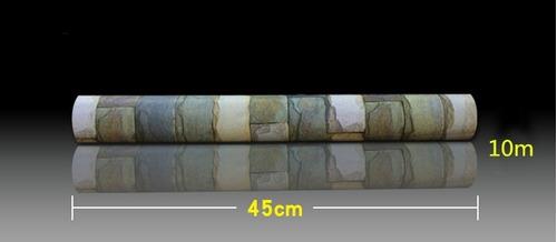 papel tapiz pared tipo piedras ladrillos vintage adhesivo
