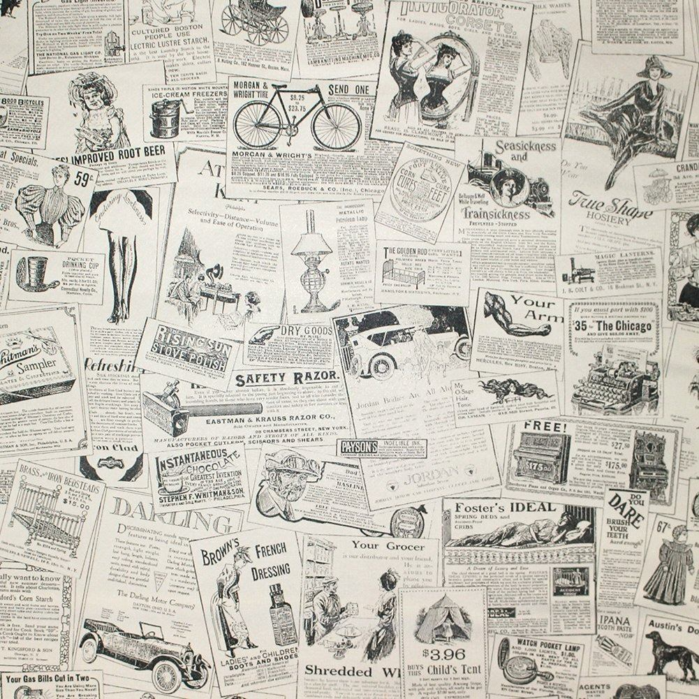Papel tapiz peri dico vintage autoadhesivo armario caj n - Papel autoadhesivo para paredes ...