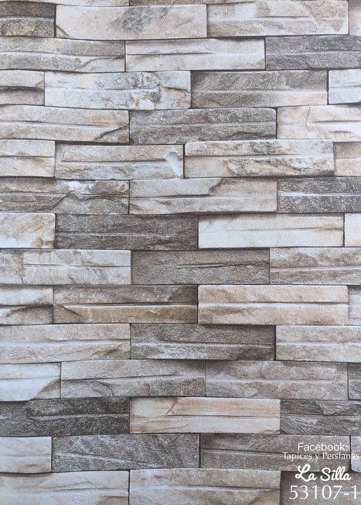 Papel tapiz piedra laja rollo grande 15m2 mas barato x for Papel imitacion piedra barato