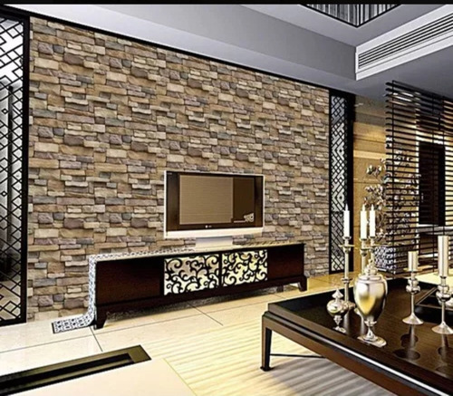 papel tapiz piedras laja adhesivo 45cm x 10 mts 3d