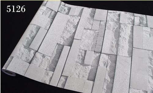 papel tapiz piedras laja cuadros adhesivo 45cm x 10 mts