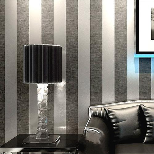papel tapiz rayado metálico elegante sala comedor textura