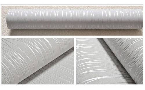 papel tapiz rayado textura metálico moderno sala habitacion