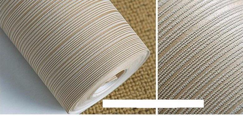 Papel tapiz texturisado a rayas crema sala comedor for Patron de papel tapiz para sala comedor