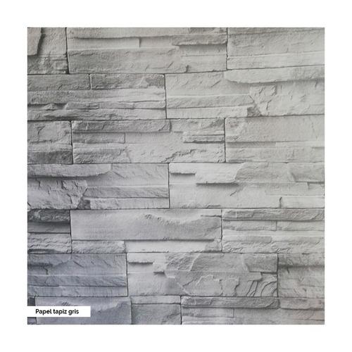 papel tapiz tipo piedra de 120cm de ancho x 1 mt de alto