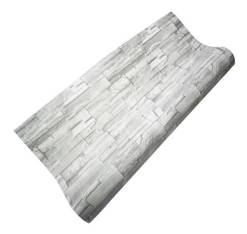 papel tapiz tipo piedra gris de 120cm de ancho x 1mt de alto