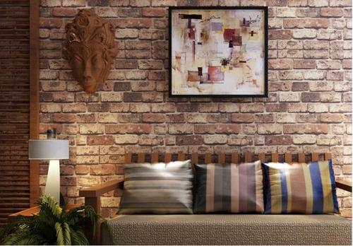 papel tapiz w23401 ladrillo natural 3d envío gratis