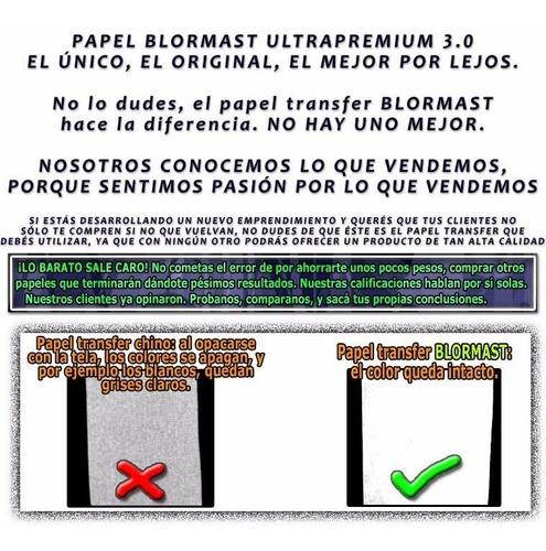 papel transfer 50 claras y 50 oscuras a3 blormast premium