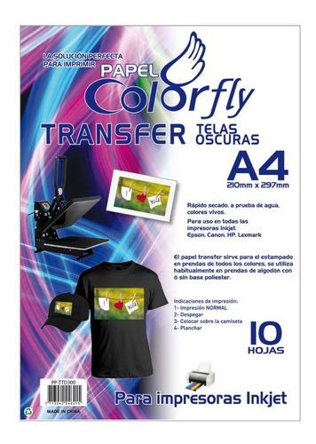 papel transfer a4 telas oscuras colorfly