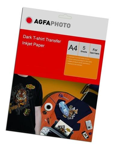 papel transfer agfa prendas oscuras a4 5hjs 175gr premium