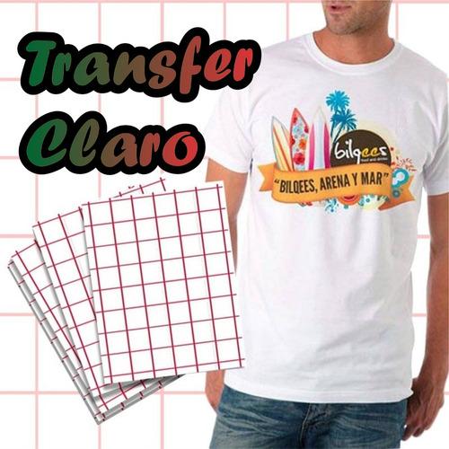 papel transfer fondo claro(prendas blancas y colores claros)