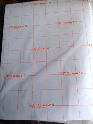 papel transfer fondo oscuro americano jetpro pack 10 hojas