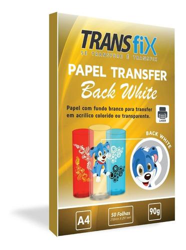 papel transfer laser back white fundo branco transfix