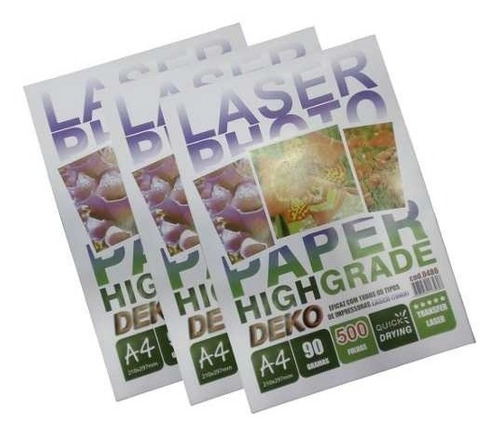 papel transfer laser rigido 500 folhas a4 90gr high quality