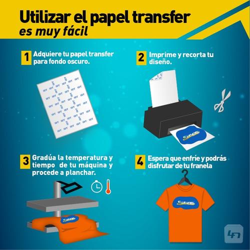 papel transfer oscuro americano estampados en algodon carta