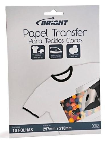 papel transfer para algodão, claro ótima qualidade