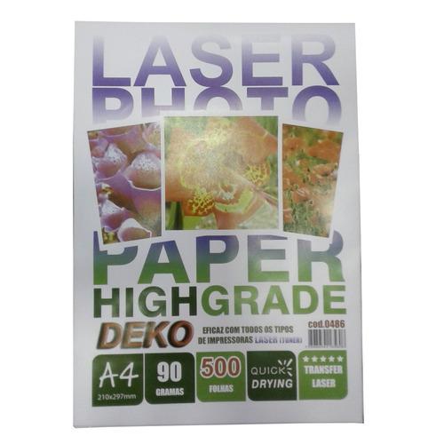 papel transfer rigido 2000 folha a4 90g p/ impressao a laser