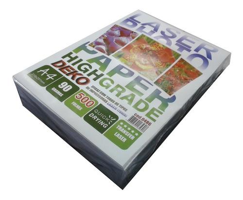 papel transfer rigido a4 90g 500 folha para impressora laser