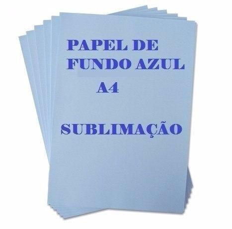 papel transfer sublimatíco resinado fundo azul 500 folhas a4