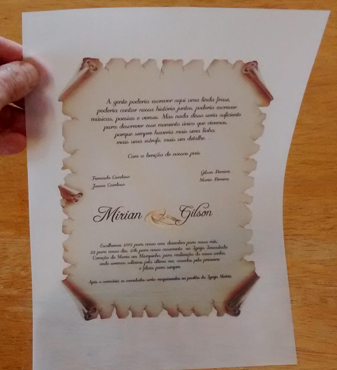 Papel Vegetal 90g Para Convite De Casamento A4 100 Folhas R 4380