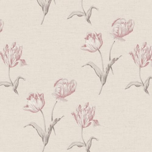 papel vinílico muresco colección lounge flores beige 7460-2