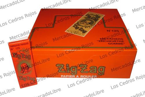 papel zig zag naranja original n.125 1 1/4 liar envío gratis