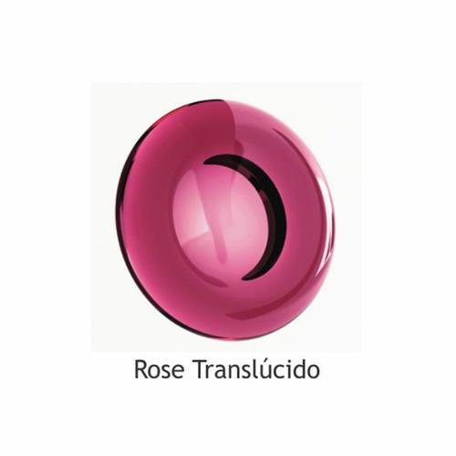 papeleira poliéster trapézio - rose translúcido