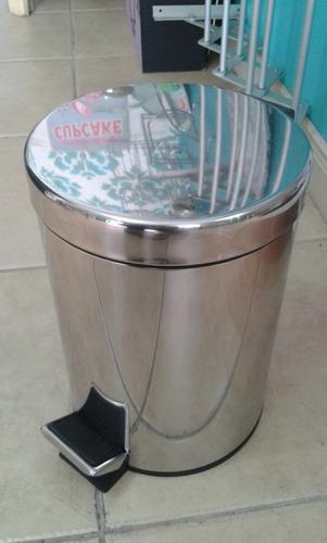 papelera 20 litros metal para baño cocina o dormitorio pedal