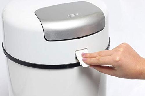 papelera bubula cubo para pañales de acero aluminio basura