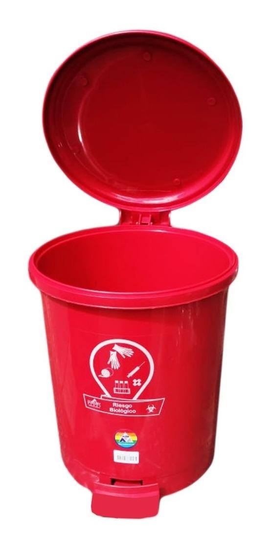 Helit 13 l color rojo Papelera con tapa batiente