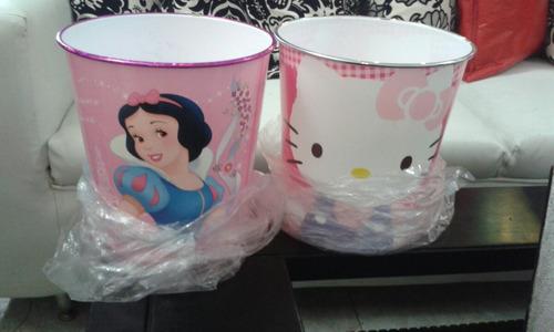 papelera de plastico para niñas princesa