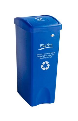 papelera vaiven plana 53l azul plastico ue4 4-1002181