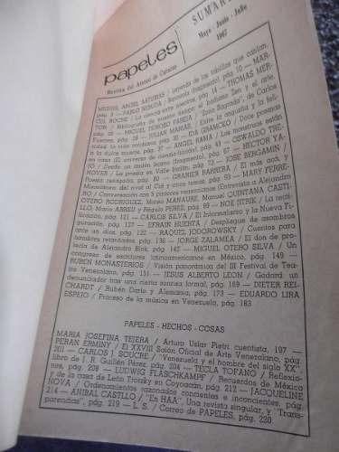 papeles 4 revista ateneo otero manaure regulo 1967 varios
