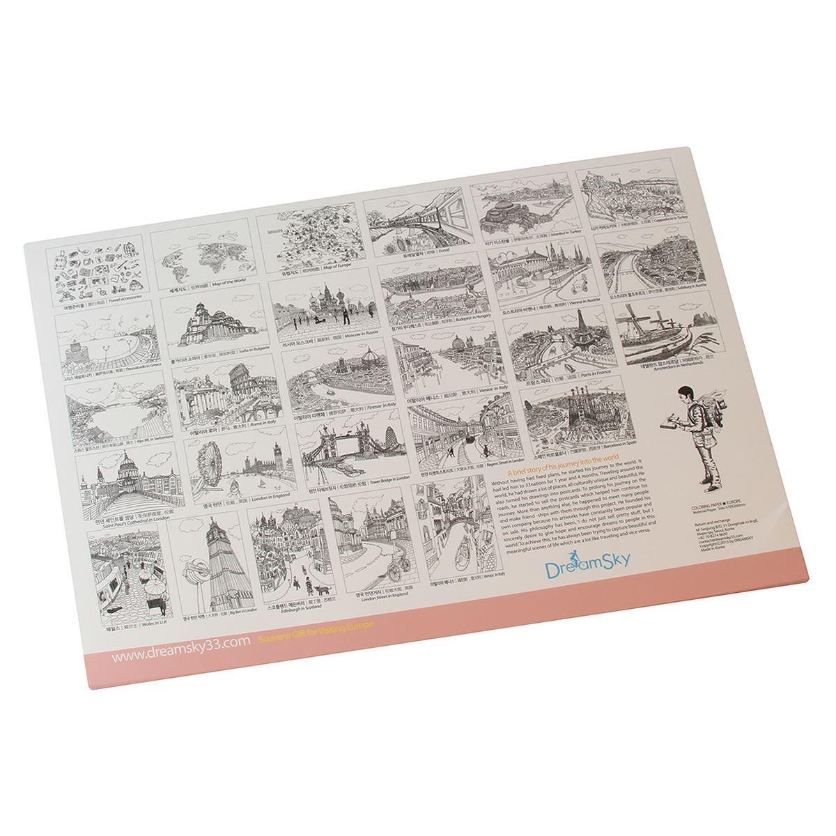 Papeles De Europa Para Colorear - $ 220.00 en Mercado Libre