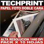 Papel Fotografico A4 Doble Lado Resolucion 1440 Dpi Profesio