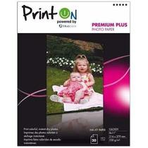Papel Fotografico Printon Premium Plus Glossy 20 Hojas
