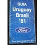 Guía Turística Uruguay Brasil Publicidad Ford