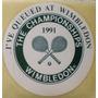Antiguo Adhesivo Sticker Calcomanía Tennis Wimbledon 1991 2x