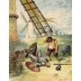 Don Quijote Y Los Molinos De Viento - Lámina 45x30 Cm.