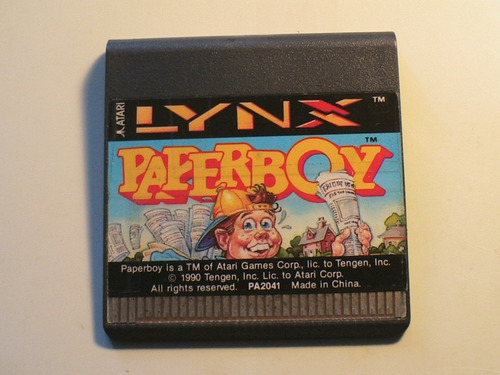 paperboy paper boy juego para atari lynx