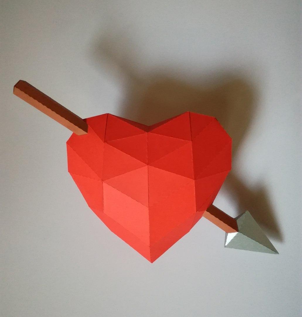 Papercraft Corazón 3d Para Imprimir Y Armar Facil Papel 9900 En