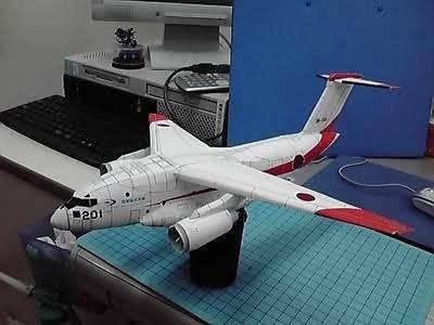 papercraft  de aeronave o avión armable 3d
