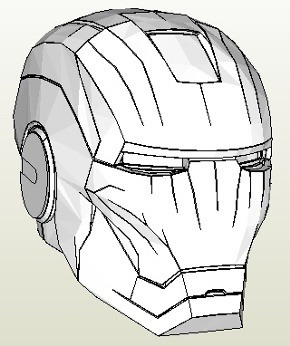 papercraft de armadura completa de iron man !!!