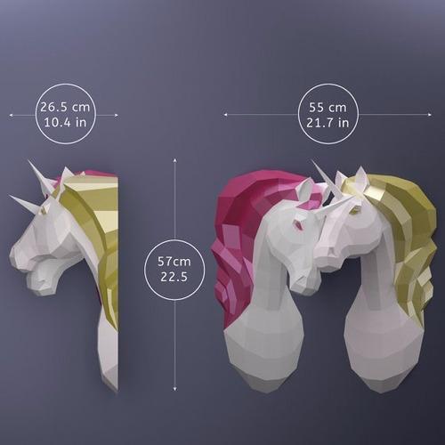 papercraft unicornio