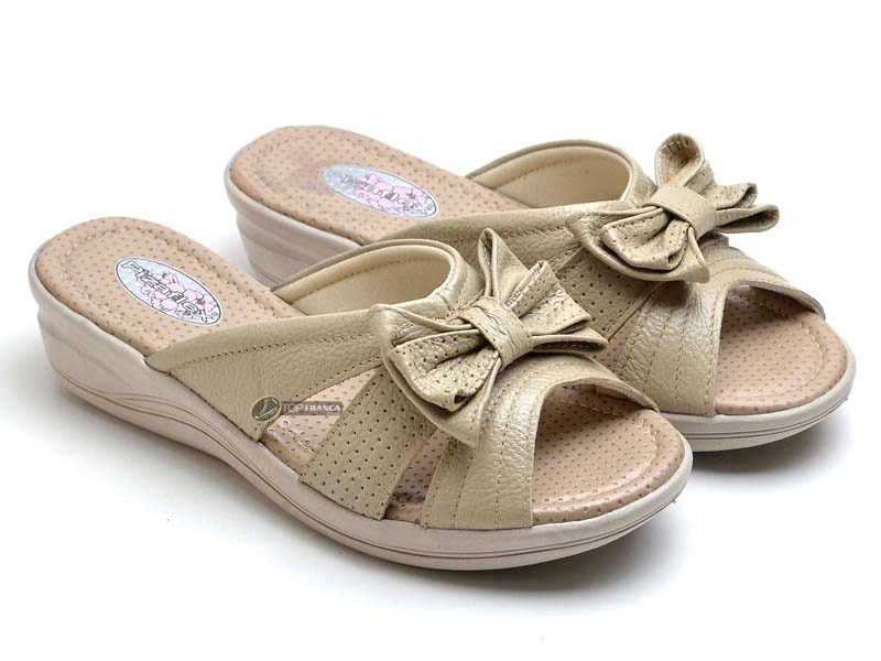 5e85d983e6 papete tamanco sapatilha sandália couro ortopédico feminina. Carregando  zoom.