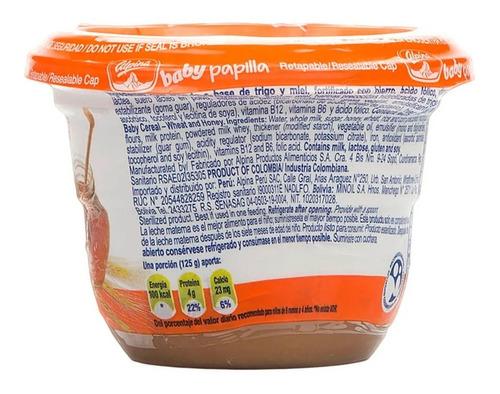 papilla baby alpina trigo miel y 3 cereales x 125gr
