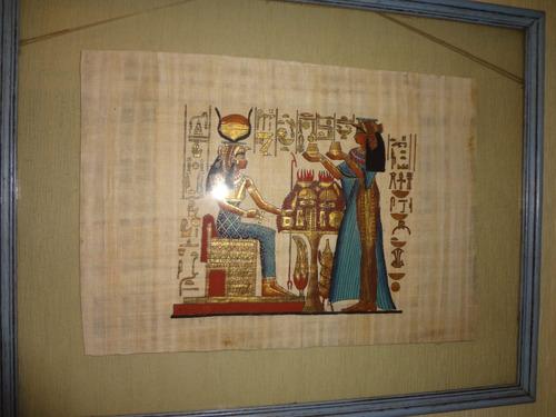 papiro egipcio original enmarcado cuadro