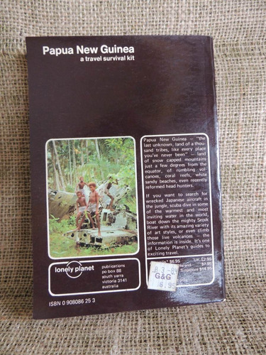 papua new guinea a travel survival kit tony wheeler lonely