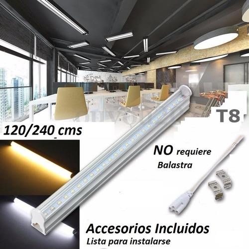 paq 10  tubos  led 1.2mts 18w t8 canaleta plástico 18watts